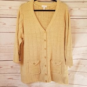 🎈Final Sale🎈 NWOT Shimmery Champagne Cardigan